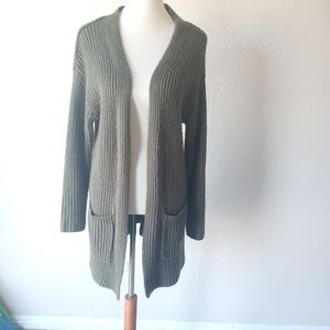 3 for $25 ❤  Long Cardigan Olive Green L